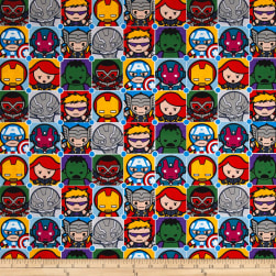 Marvel Kawaii Character Tiles Multi Fabric