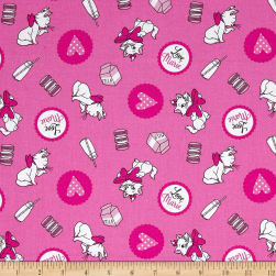 Disney Classics Marie Loves Milk Pink Fabric