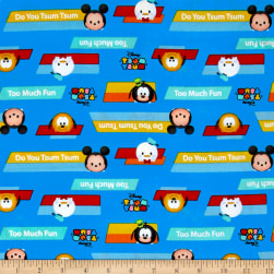 Disney Tsum Tsum Do You Tsum? Blue Fabric