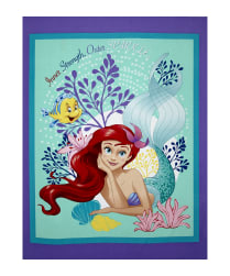 Disney Princess Ariel The Little Mermaid Princess Ariel 36'' Panel Lavender Fabric