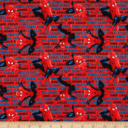 Marvel Spiderman Spidey Sense Red Fabric