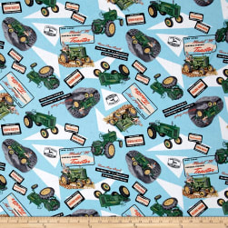 John Deere Model M Tractor Collage Multi Fabric