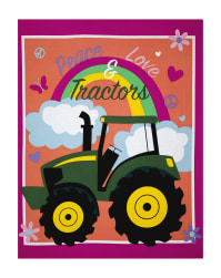 John Deere Pink Peace Love & Tractors 36'' Panel Multi Fabric