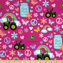 John Deere Pink Farm Fresh Multi Fabric
