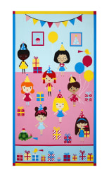 Kaufman Girl Friends Celebration 24'' Panel Party Fabric