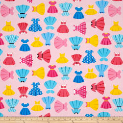 Kaufman Girl Friends Dresses Pink Fabric