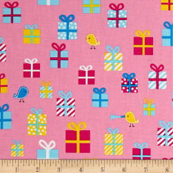 Kaufman Girl Friends Gifts Pink Fabric