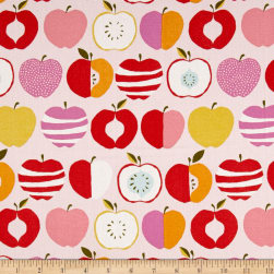 Monaluna Organic Juicy Pink Delicious Canvas Fabric