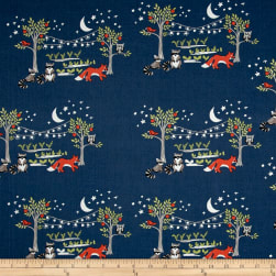Monaluna Organic Poplin Cottage Garden Night Garden Fabric
