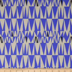 Kaufman Psychedelia Flame Ovals, Triangles Conflower Fabric