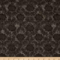 Kaufman Wexford Garden Donuts, Damask Taupe Fabric