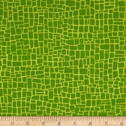 Kaufman Dinoroar Fiesta Stripes, Blocks Grass Fabric