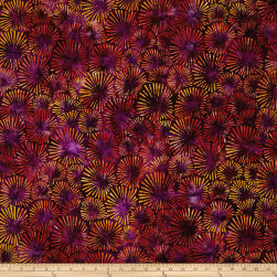 Kaufman Retro Metro 2 Butterscotch Swirls Flame Fabric