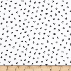 Kaufman Whiskers & Tails Digital Print Ecru Dots,