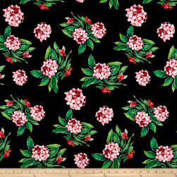 Spring Flowers on Olympus Athletic Double Knit Black/Green