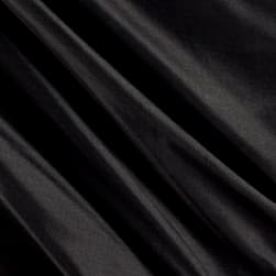 100% Silk Shantung Black