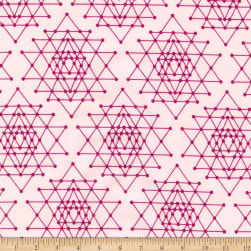 Kaufman Palm Canyon Geo Trellis Pink Fabric