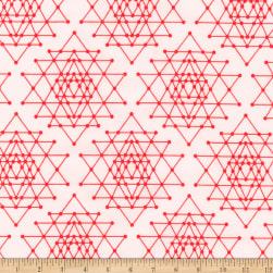 Kaufman Palm Canyon Geo Trellis Coral Fabric