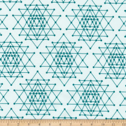 Kaufman Palm Canyon Geo Trellis Teal Fabric