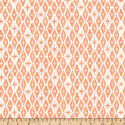 Kaufman Palm Canyon Diamonds Coral Fabric
