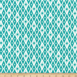 Kaufman Palm Canyon Diamonds Teal Fabric