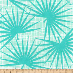 Kaufman Palm Canyon Ferns Aqua Fabric