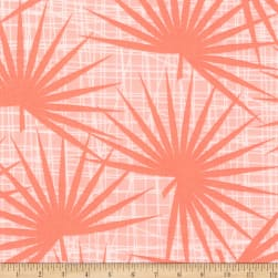 Kaufman Palm Canyon Ferns Coral Fabric