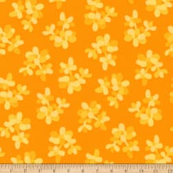 Kaufman Terrarium Branches Orange Fabric