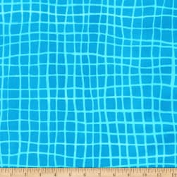 Kaufman Mark To Make Grid Turquoise Fabric
