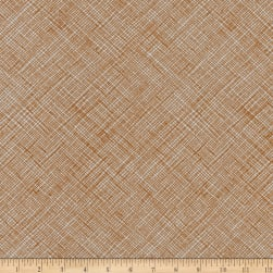 Kaufman Architextures Crosshatch Earth Fabric