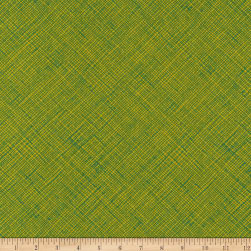 Kaufman Architextures Crosshatch Leaf Fabric