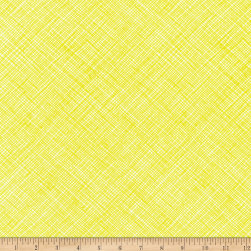 Kaufman Architextures Crosshatch Neon Acid Lime Fabric