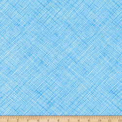 Kaufman Architextures Crosshatch Paris Blue Fabric