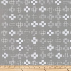 Kaufman Blueberry Park Crosses Pewter Fabric