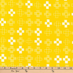 Kaufman Blueberry Park Crosses Duckling Fabric
