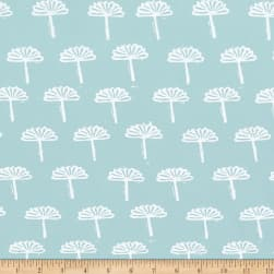 Kaufman Blueberry Park Foliage Dusty Blue Fabric