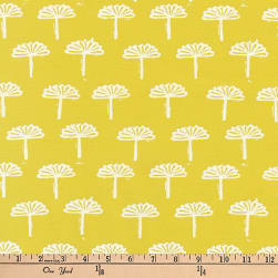 Kaufman Blueberry Park Trees Neon Wasabi Fabric