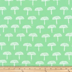 Kaufman Blueberry Park Trees Parakeet Fabric