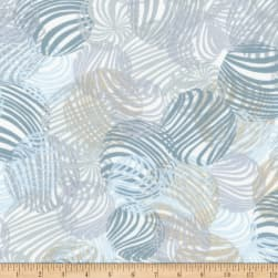 Kaufman Musings Circles Silver Fabric