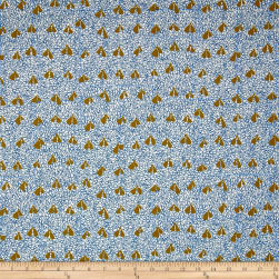 Kaufman Gleaned Hangings Blue Fabric