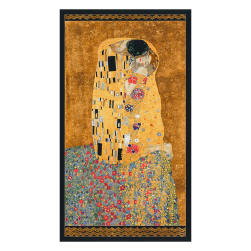 Kaufman Gustav Klimt Kiss Panel Gold Metallic Fabric