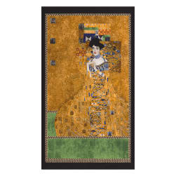 Kaufman Gustav Klimt Lady Women Panel Gole Metallic Fabric