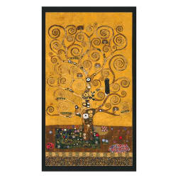 Kaufman Gustav Klimt Tree Panel Gold Metallic Fabric