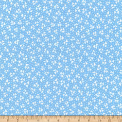 Kaufman Sunshine Garden Triangles Blue Fabric
