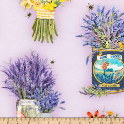 Kaufman Everyday Favorites Flowers Lavender Fabric