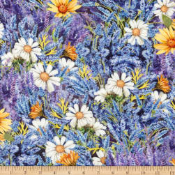 Kaufman Everyday Favorites Collage Lavender Fabric
