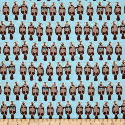 Kaufman Otterrific Otters Water Fabric