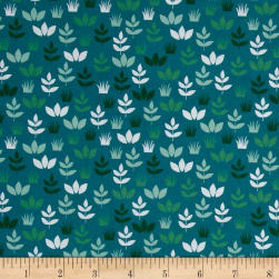 Kaufman Safari Soiree Leaves Teal Fabric