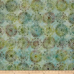 Kaufman Artisan Batiks Regal 3 Medallion Grass Fabric