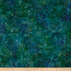 Kaufman Artisan Batiks Regal 3 Flowers Capri Fabric